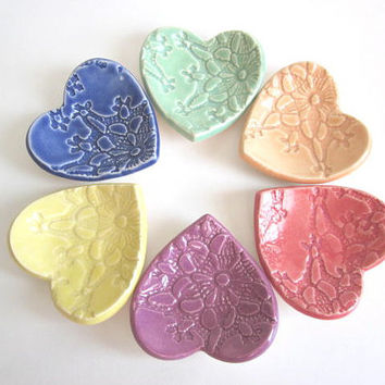 bridal shower favor heart ring dish wedding favor birthday favor jewelry holder handmade pottery