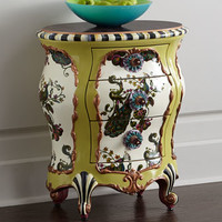 MacKenzie-Childs Peacock Accent Chest