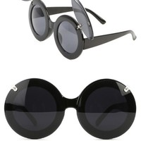 BLACK Oversized Lady Gaga Inspired Mickey Mouse Flip Sunglasses and Shop Accessories at MakeMeChic.com
