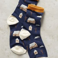 Hansel From Basel Home Sweet Home Socks in Navy Size: One Size Socks