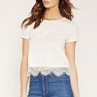 Contemporary Lace-Trim Top | Forever 21 - 2000171593