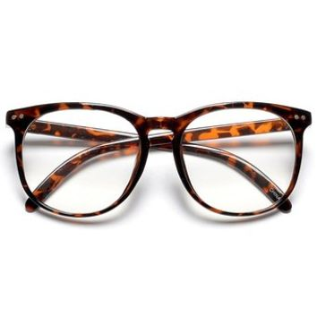 Mens Thin Frame Glasses : Large Oversized 50mm Thin Frame Round from Amazon