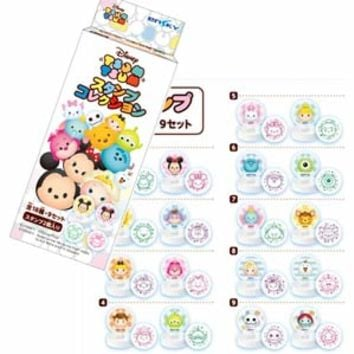 Disney TSUM TSUM 2pcs Stamp Set Collection (Random)