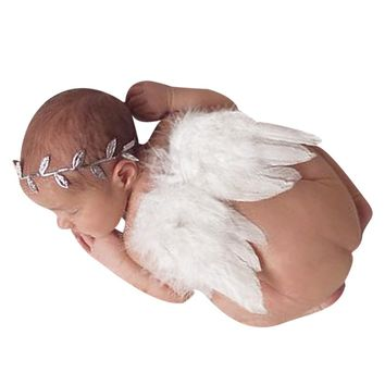 Baby Newborn Photography Props Accessories Baby Girls Angel Feather Wings Feather Baby Newborn Photo Props Newborn Fotografia