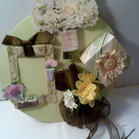 FLORAL Picture Frame With BEAUTIFUL RING in Box Woman Picture Frame Mother Wife Frame