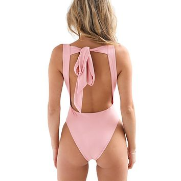 Sexy Backless Sleeveless Bodysuit
