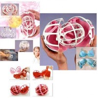 Dual Ball Bubble Bra Saver Hot Washers Laundry Washing Double Machine Protector