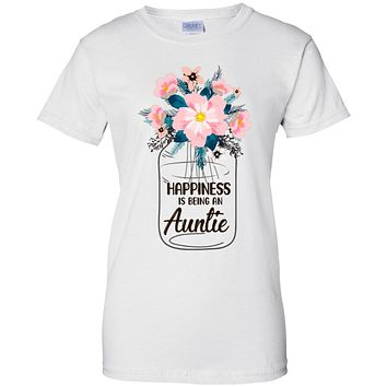 Happiness Is Being An Auntie Life Flower Auntie Gifts