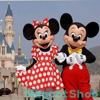 New Adult Suit Size MICKEY MOUSE AND MINNIE MOUSE mascot costume FAN (Foam Head):Amazon:Toys & Games