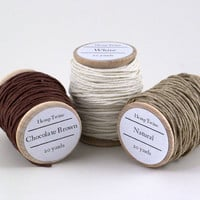 Hemp Twine 60 yards 3 colors Dyed Natural