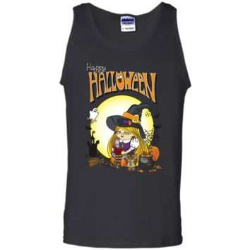 Halloween Witch Girl Reading Book, Happy Halloween T-shirt
