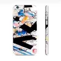 Blue Abstract art - iPhone 6 case  - watercolor iPhone 6 case - Case for the iPhone - Artist gift - art
