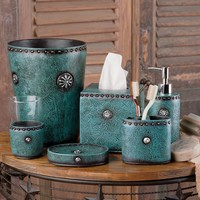 Tooled Turquoise Bath Collection
