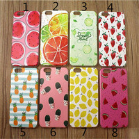 Fruits Pineapple Watermelon Lemon Strawberry Cactus Case