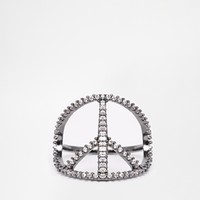 ASOS Stone Peace Ring