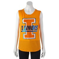 Recycled Karma Illinois Fighting Illini Muscle Tee - Juniors, Size: