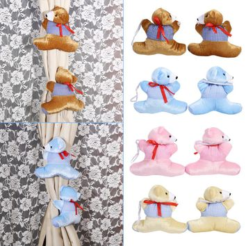 1 Pair Curtain Buckle Cute Baby Kid Cartoon Bear Holder Nursery Bedroom Curtain Tieback Buckle Home Decor new