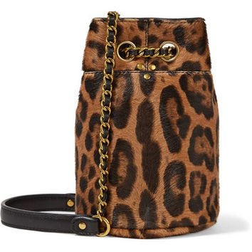 Jérôme Dreyfuss - Popeye mini leopard-print calf-hair bucket bag