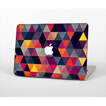 The Triangular Abstract Vibrant Colored Pattern Skin Set for the Apple MacBook Air 13""