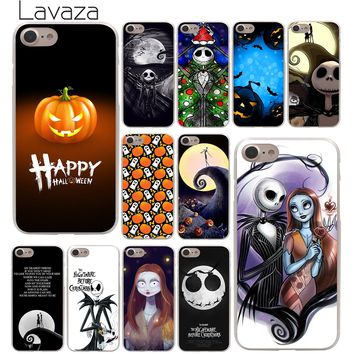 Lavaza Nightmare Before Christmas alloween Hard Phone Cover Case for Apple iPhone 10 X 8 7 6 6s Plus 5 5S SE 5C 4 4S Coque Shell