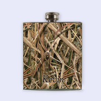 Mossy Oak, mossy oak camo, Camo Flask, Camo, Flask,  Personalized Custom Flask,