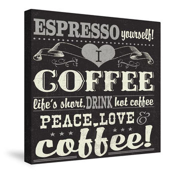 Coffee Lovers II Canvas Wall Art