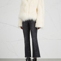 Stella McCartney Ivory faux fur jacket