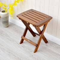 Multifunctional Bamboo Folding Stool Chair Seat  Furniture Small Portable Folding