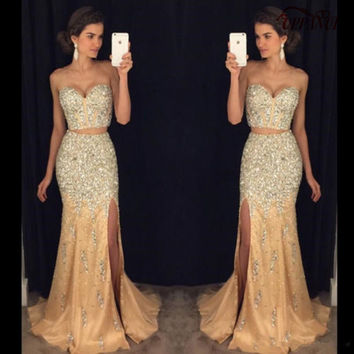 Shop Modern Prom Dress on Wanelo