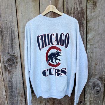 Vintage 1995 Chicago Cubs Crewneck Sweatshirt Made in USA Mens Size XXL