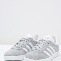 GAZELLE - Sneaker low - mid grey/white/gold metallic - Zalando.de