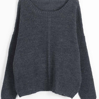 Cupshe Simple Mind  Off the Shoulder Basic Sweater