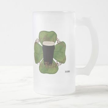 A Pint of the Black Stuff Frosted Glass Beer Mug