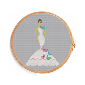 Cross stitch pattern BRIDE / Instant download PDF Pattern