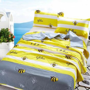 summer quilt fitted sheet  Comforter king queen full size bedclothes blanket Home Textiles Suitable for Kids Adult free shipping