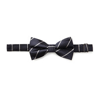 Striped Bow Tie Navy/Grey One