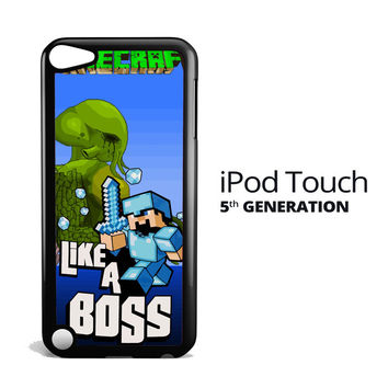 Minecraft Like a Boss X2143 iPod Touch 5 Case