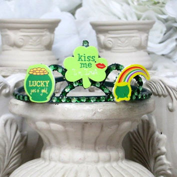 Saint Patricks Day - Adult Hair Accessories - Party Headband - Green Headband - Girls Tiaras - Green Hair Accessorie -Tiaras and Crown
