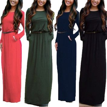 GZHOUSE Women Long Sleeve Party Cocktail Maxi Dress
