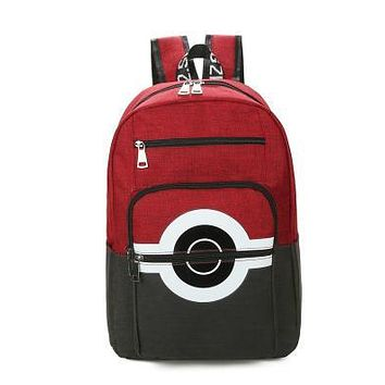 Anime Backpack School 5 clolors kawaii cute Pokemon Backpack Pocket Monsters Canvas Backpack For Women Men Pokemon Poke Ball Shoulder Schoolbags Mochila AT_60_4