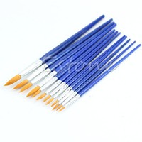 12pcs Assorted Size Fine Paint brushes For Great Art Crafts