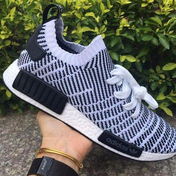 CREYNW6 Adidas NMD R1 Stlt Spring Summer 2018 Line up Black/White Running Sport Shoes Camouflage Sneakers Casual Shoes