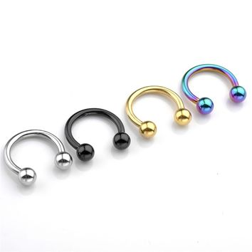 Jovivi Body Piercing 2pcs 14G(1.6MM) Captive Beads Ring CBR Ring Hoop Nose Ring Septum Body Rings Studs Jewelry Piercings Unisex