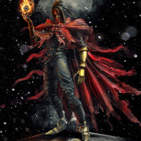 Epic Vincent Valentine Final Fantasy Painting Portrait Art Print by Barrett Biggers