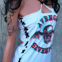 A7X Avenged Sevenfold Sexy Lace up Dress Shredded Band by TShreds