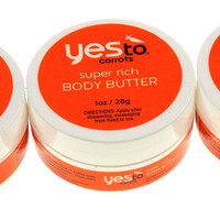 Yes To Carrots Super Rich 1 Oz Body Butter Dry Skin Moisture Cream Set of 12