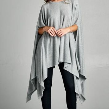 Stella Luxe Pullover in Grey