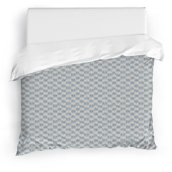FRILL BLUE Duvet Cover By Tiffany Wong