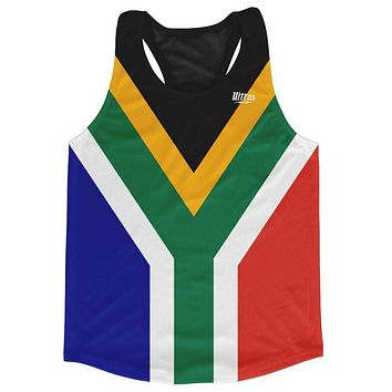 South Africa Country Flag Running Tank Top Racerback Track and Cross Country Singlet Jersey