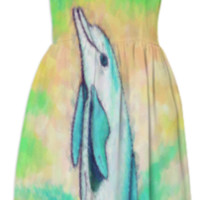Dolphin Painting Sundress created by One Stop Gift Shop | Print All Over Me